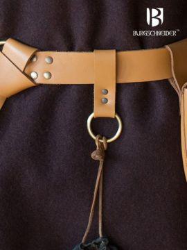 Boucle en cuir avec anneau Freia