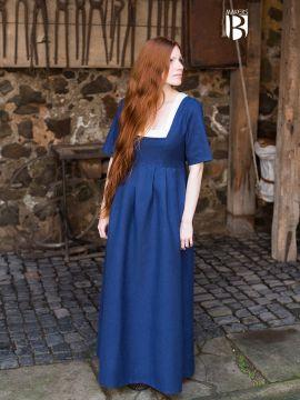 Robe encolure carrée, bleu