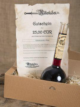 Coffret cadeau avec vin épicé et Bon d'achat