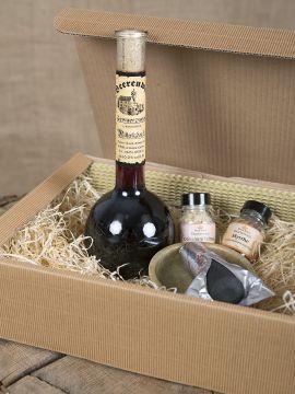 Coffret comprenant 1 bouteille d'hypocras et de l'encens
