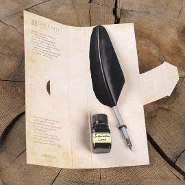 Set de calligraphie avec plume noire