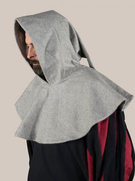 Capuchon en laine, gris