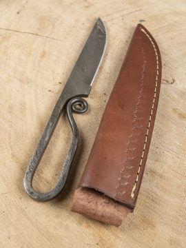 Couteau médiéval en acier damas