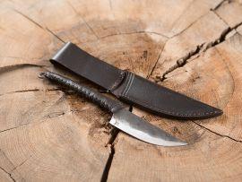 Couteau médiéval avec manche gainé de cuir