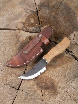 Couteau médiéval acier carbone, avec manche en bois de rose