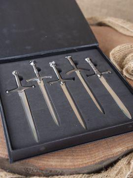 Ensemble d'épées miniatures, 'ouvre-lettres