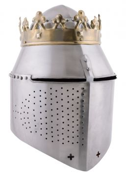 Grand heaume royal avec couronne