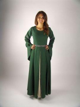 Robe médiévale vert forêt XXXL
