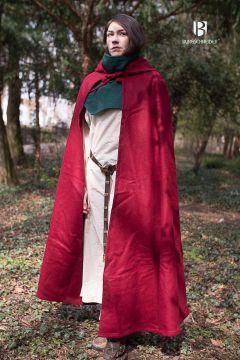 Cape à capuche Hibernus, en rouge