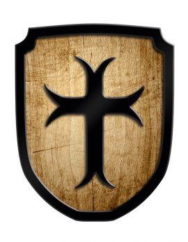 Bouclier de Croisé en bois