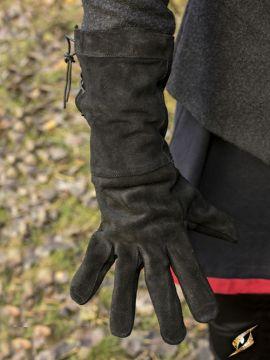 Gants en cuir suédé noir S