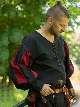 Chemise Lansquenet noire/rouge