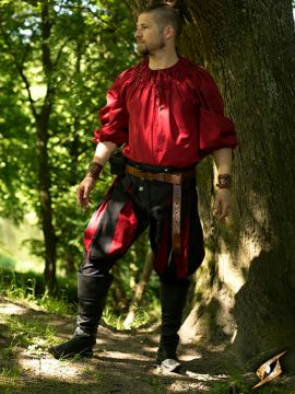 Pantalon Lansquenet noir/rouge