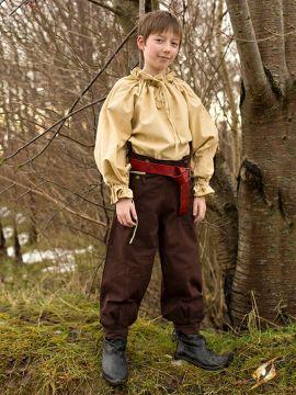 Pantalon en coton pour enfant, marron
