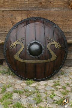 Bouclier GN dragon d'or