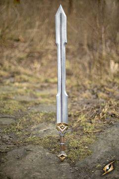 Epée de gnome double tranchant, 105 cm