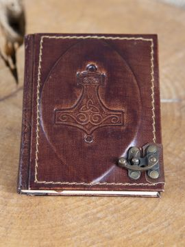 Carnet en cuir Marteau de Thor