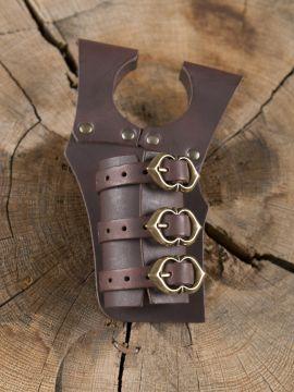 Porte-épées 3 boucles, en marron
