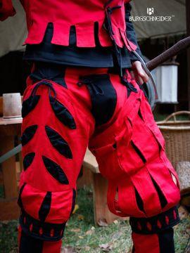 Jambières bicolores IMPERIALIS ajourées en rouge et noir