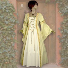 Robe Iris jaune-blanche