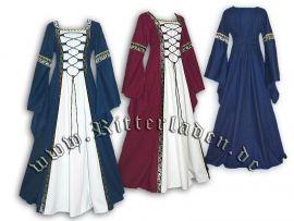 Robe médiévale Iris à partir du 50 | blanc/rouge