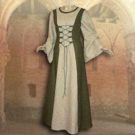Ensemble médiéval Isabella en vert olive