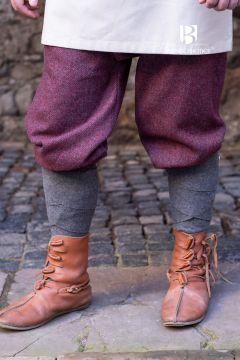 Culottes Ivar chinées bordeaux-gris