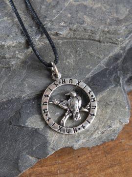 """Amulette en Argent """"Les Corbeaux d'Odin"""""""