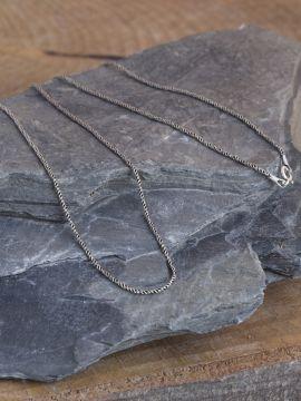 Collier mailles fines en argent 60 cm