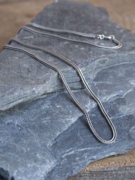 Chaine en argent mailles tressées 56 cm