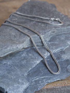 Chaine en argent mailles tressées 50 cm