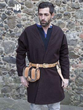 Veste croisée en laine en marron