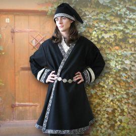 Veste viking croisée, en noir