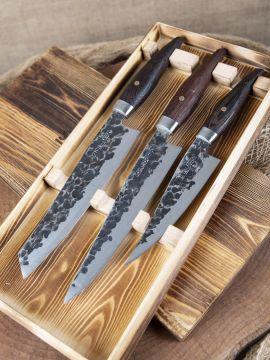 Set de 3 couteaux en bois de wengé