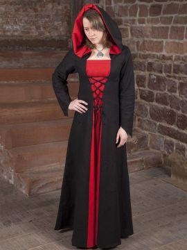 4037fcb270b ... Robe médiévale Luna en noir et rouge
