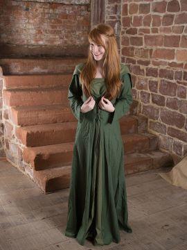 Robe médiévale Luna en vert
