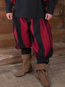 Pantalon lansquenet rouge/noir