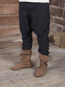 Pantalon en coton en noir