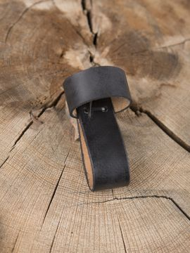 Porte-corne en cuir noir