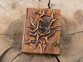 Carnet en cuir motif dragon