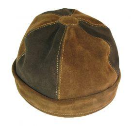 Chapeau médiéval en cuir suédé grand (60/61/62)   brun foncé   miel