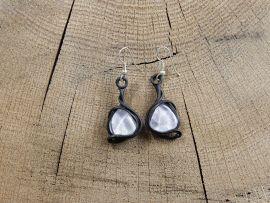 Boucles d'oreilles avec cristal de roche