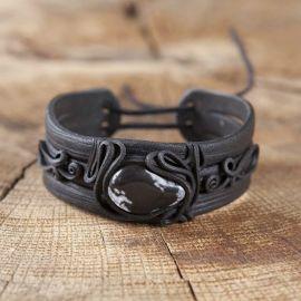 Bracelet orné d'une obsidienne