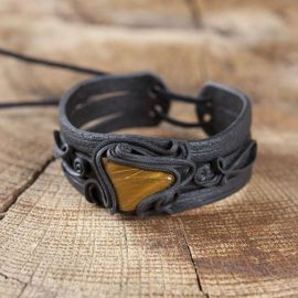 Bracelet orné d'un oeil de tigre