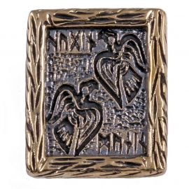Rune HUGIN ET MUNIN en Bronze