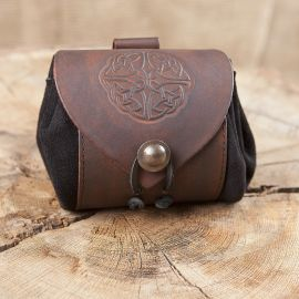 Petit sac de ceinture en cuir, motif noeud celtique III