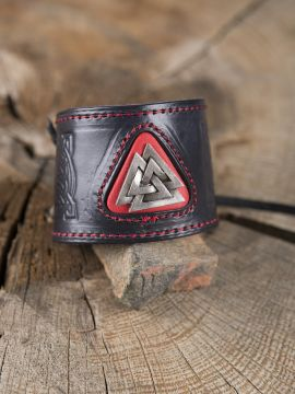 Bracelet en cuir noeud picte