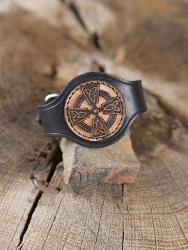 Bracelet en cuir Croix Celtique