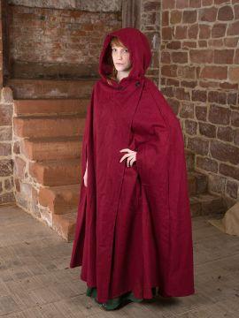 Manteau en laine Allan, en rouge