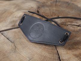 Bracelet Triskele en cuir noir